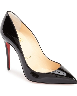 Women's Christian Louboutin Pigalle Follies Pointed Toe Pump, Size 8.5US - Black
