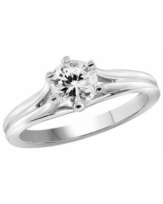 Womens 1 1/3 CT. T.W. White Cubic Zirconia Sterling Silver Promise Ring, 6