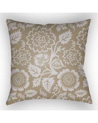 """August Grove Lyda Indoor /Outdoor Throw Pillow W001223064 Size: 20"""" H x 20"""" W x 1"""" D Color: Tan"""