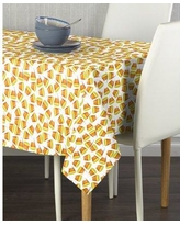"The Holiday Aisle® Escalera Halloween Candy Corn Milliken Signature Tablecloth CJ148276 Size: 84"" L x 60"" W Color: White"