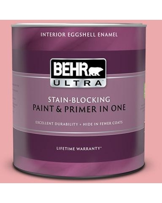BEHR ULTRA 1 qt. #140C-3 Hibiscus Petal Eggshell Enamel Interior Paint and Primer in One