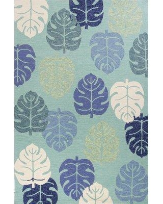f6abfa058bca Bayou Breeze Affric Palms Hand Hooked Turquoise Indoor Outdoor Area Rug  BBZE3164 Rug Size