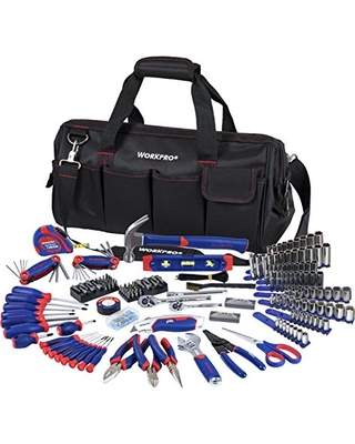 Workpro W009037a Home Repair Hand Tool Kit Basic Household Set With Carrying Bag 322