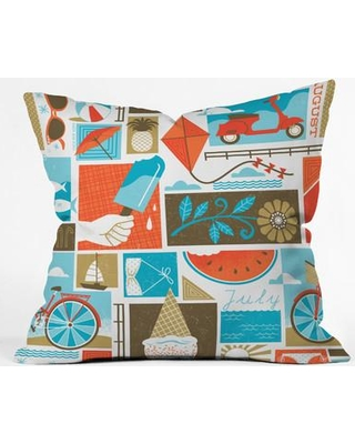 """Deny Designs Lucie Rice Throw Pillow 58138-othrp16 / 58138-othrp18 Size: 18"""" H x 18"""" W x 5"""" D"""