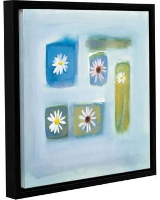 """Latitude Run 'Serene' Framed Painting Print on Wrapped Canvas LTDR7260 Size: 18"""" H x 18"""" W x 2"""" D"""