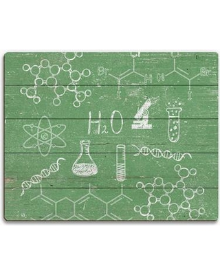 """Click Wall Art Chemistry Graphic Art on Plaque INK0000025PLK Size: 20"""" H x 30"""" W x 1"""" D"""
