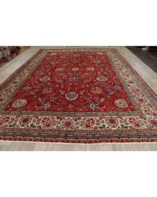 """One-of-a-Kind Harvey-Jay Hand-Knotted 1980s 9'11"""" x 13'1"""" Wool Area Rug in Red"""