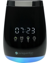 SPA260 Ultrasonic Cool Mist Deluxe Aromatherapy Essential Oil Diffuser with Touch Controls & Alarm Clock - PureGuardian, Black