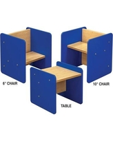 TotMate Activity Cube Kids Classroom Chair (Set of 2) TM2137A.S2222 Frame Finish: Royal Blue Assembly: No