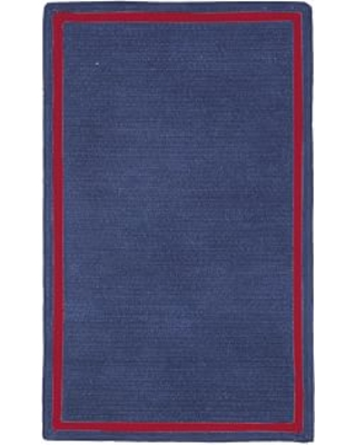 Capel Chenille Rug 3 X 5 Rectangle Dark Navy With Red