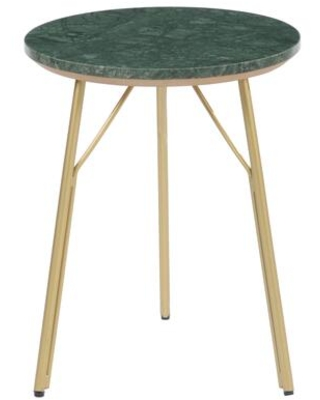 Verde Collection BZ-1094-16 Side Table with Gold Finished Iron Legs in Green