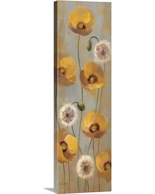"""Canvas On Demand 'Spring Poppies II' by Silvia Vassileva Painting Print on Canvas 2174770_24_12x36_none / 2174770_24_20x60_none Size: 36"""" H x 12"""" W x 1.25"""" D"""