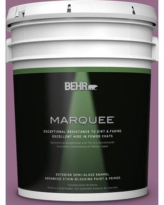 BEHR MARQUEE 5 gal. #M110-6 Sophisticated Lilac Semi-Gloss Enamel Exterior Paint and Primer in One