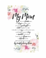 """Dexsa My Mom your Arms Woodland Grace Series Wood Plaque with Easel, 6"""" x 9"""
