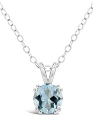 Aquamarine (1-1/4 ct. t.w.) Pendant Necklace in Sterling Silver