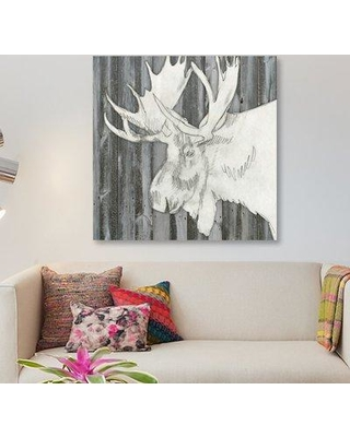 "East Urban Home 'Barnwood Lodge Sketch I' Graphic Art Print on Canvas ESBH6064 Size: 12"" H x 12"" W x 1.5"" D"