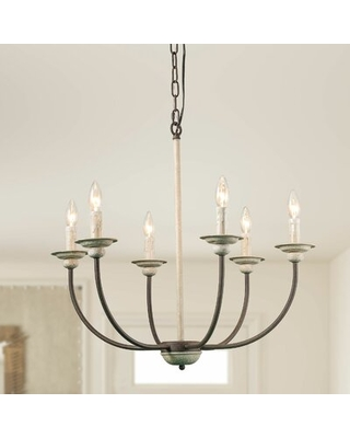 Ward 6 - Light Candle Style Classic / Traditional Chandelier Gracie Oaks