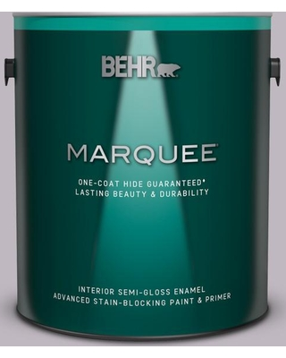 BEHR MARQUEE 1 gal. #N570-2 Standing Ovation Semi-Gloss Enamel Interior Paint and Primer in One
