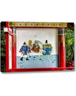 "World Menagerie 'Japan Nara Painting at a Shinto Shrine' Photographic Print on Wrapped Canvas BF152623 Size: 10"" H x 16"" W x 1.5"" D"