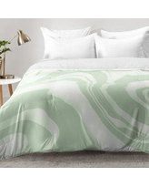 East Urban Home Marble Structure Comforter Set EAHU7619 Size: King, Color: Green
