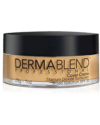 Dermablend Cover Creme High Coverage Foundation with SPF 30, 40W Caramel Beige, 1 Oz.
