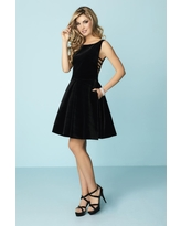 Tiffany Homecoming - 27141 Fitted Bateau A-Line Cocktail Dress