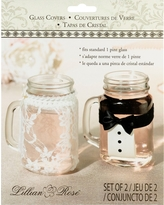 Bride and Groom Glass Covers, Clear
