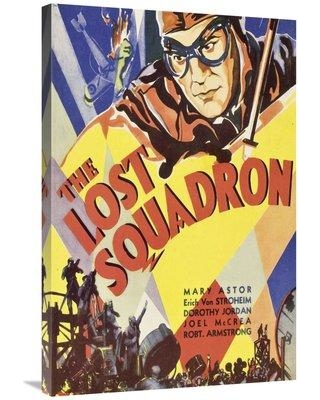 "East Urban Home 'Vintage Film Posters Lost Squadron 2' Vintage Advertisement on Wrapped Canvas ETUC3424 Size: 36"" H x 24"" W x 1.5"" D"