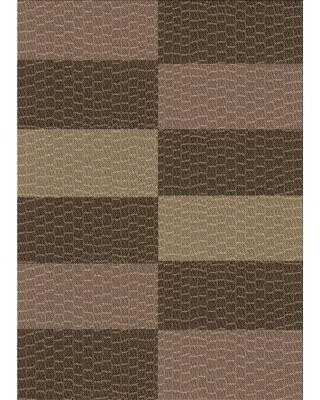 Deals On East Urban Home Elysant Geometric Brown Area Rug X113662849 Rug Size Rectangle 4 X 6