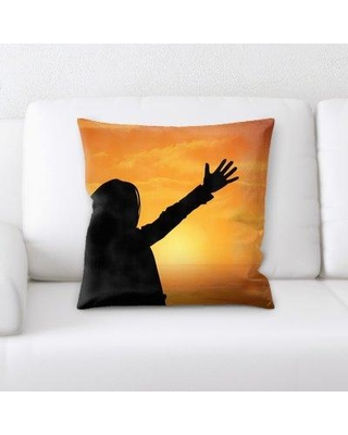 East Urban Home Person Throw Pillow W000263474