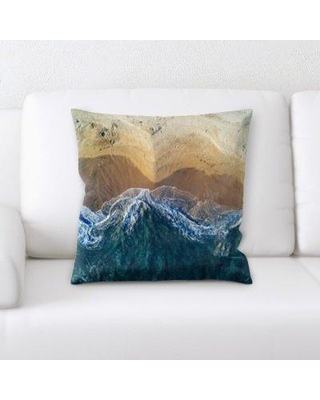 East Urban Home From an Airplane Throw Pillow BF083076