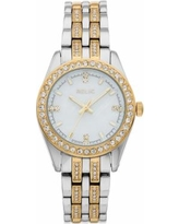 Relic by Fossil Women's Iva Crystal Accent Two Tone Watch, Size: Medium