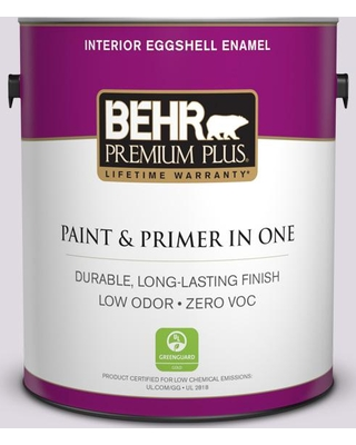 BEHR Premium Plus 1 gal. #PR-W01 Mystical Mist Eggshell Enamel Low Odor Interior Paint and Primer in One