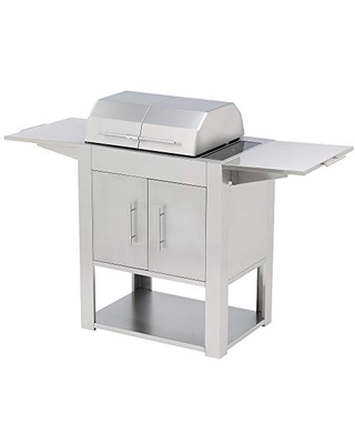 Kenyon C70400WH Texan Stand with Touch Control Outdoor Grill, Stainless Steel