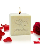 "Carved Solutions Double Heart Grandma Lavender Scented Votive Candle EL3C-Grandma-Doubleheart / EL4C-Grandma-Doublehear Size: 3"" H x 3"" W x 3"" D"