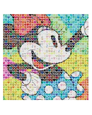 Ceaco Disney Emoji Minnie Mouse Jigsaw Puzzle, 300 Pieces Multi-colored, 5""