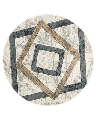 Adonia Abstract White/Gray/Beige Area Rug