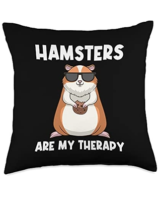 Best Hamster Pet Winter White Fur Designs Cool Hamster Gift For Men Women Syrian Dwarf Rodent Animal Throw Pillow, 18x18, Multicolor