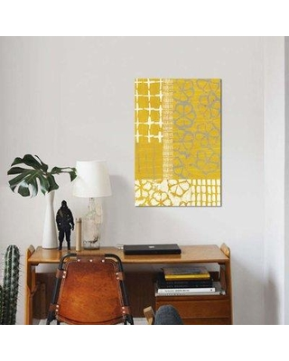 "East Urban Home 'Golden Blockprint II' Graphic Art Print on Canvas EBHT1136 Size: 26"" H x 18"" W x 0.75"" D"