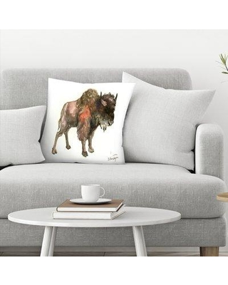 "East Urban Home Suren Nersisyan Bison Throw Pillow EBIB9418 Size: 20"" x 20"""