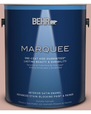 BEHR MARQUEE 1 gal. #MQ1-50 Art Deco Pink One-Coat Hide Satin Enamel Interior Paint and Primer in One