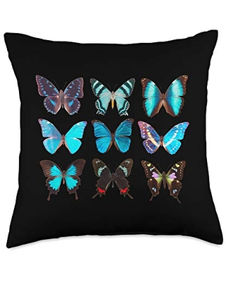 Butterfly Lover Entomology Fun Lover Colorful Butterflies Entomologist Science Throw Pillow, 18x18, Multicolor