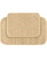 Garland 2 Piece Traditional Washable Nylon Bath Rug Set - Linen