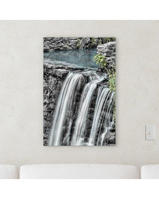 """World Menagerie 'Waterfall' Graphic Art Print on Canvas W001165557 Size: 40"""" H x 20"""" W x 2"""" D"""
