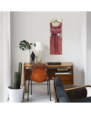 """'Favourite Dress' By PI Studio Graphic Art Print on Wrapped Canvas East Urban Home Size: 60"""" H x 20"""" W x 1.5"""" D"""