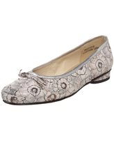 Ros Hommerson Women's Maggie Flat,Grey Floral Print,11.5 XW US