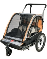 Allen Sports 2-Child Bicycle Trailer and Stroller, model AS2