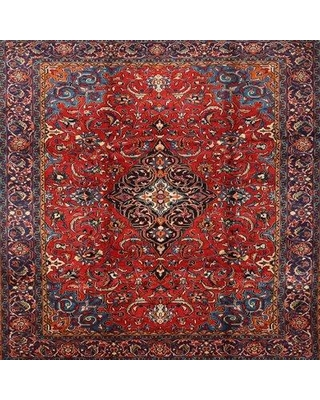 Bloomsbury Market Scruggs Traditional Red/Navy Blue Area Rug W001922812 Rug Size: Round 5'