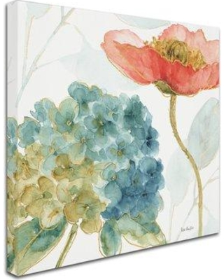 """East Urban Home 'Rainbow Seeds Flowers IV' Print on Wrapped Canvas EBHV2663 Size: 24"""" H x 24"""" W x 2"""" D"""