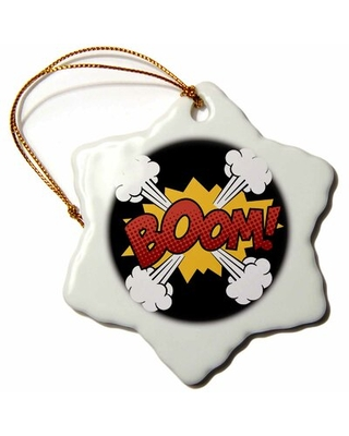 Boom Lettering with Smoke Snowflake Holiday Shaped Ornament